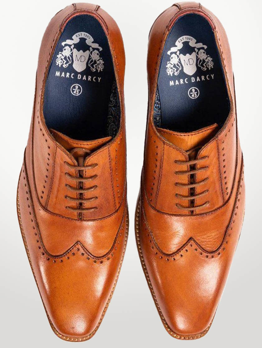 Tan Leather Carson Shoes - SAVE 15%