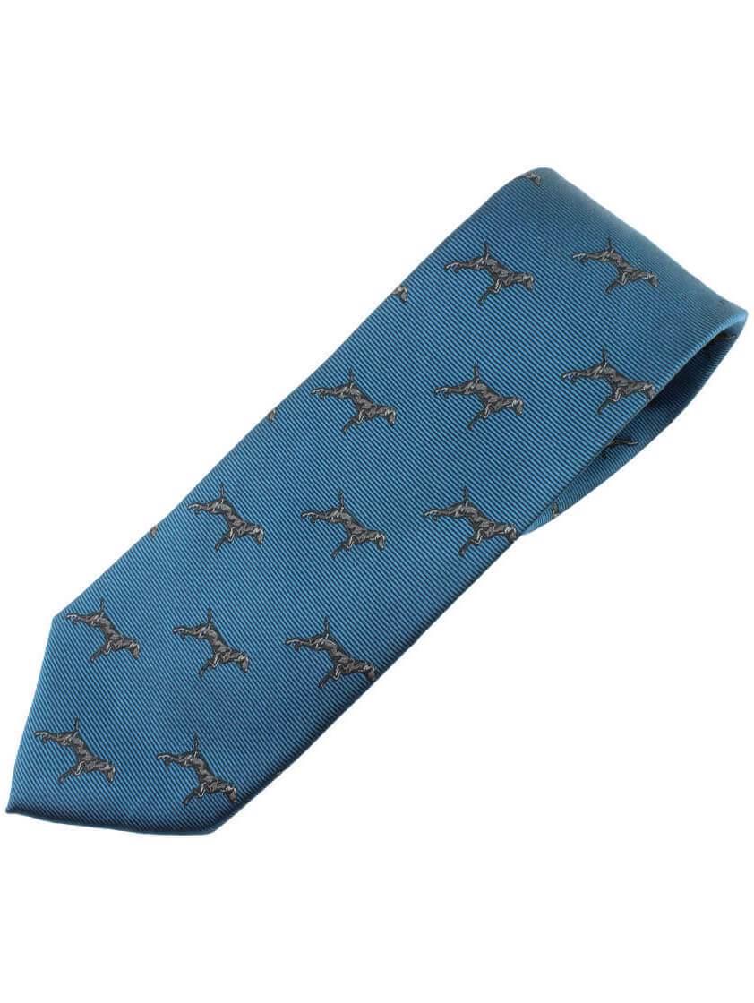 Teal Dog Print Tie