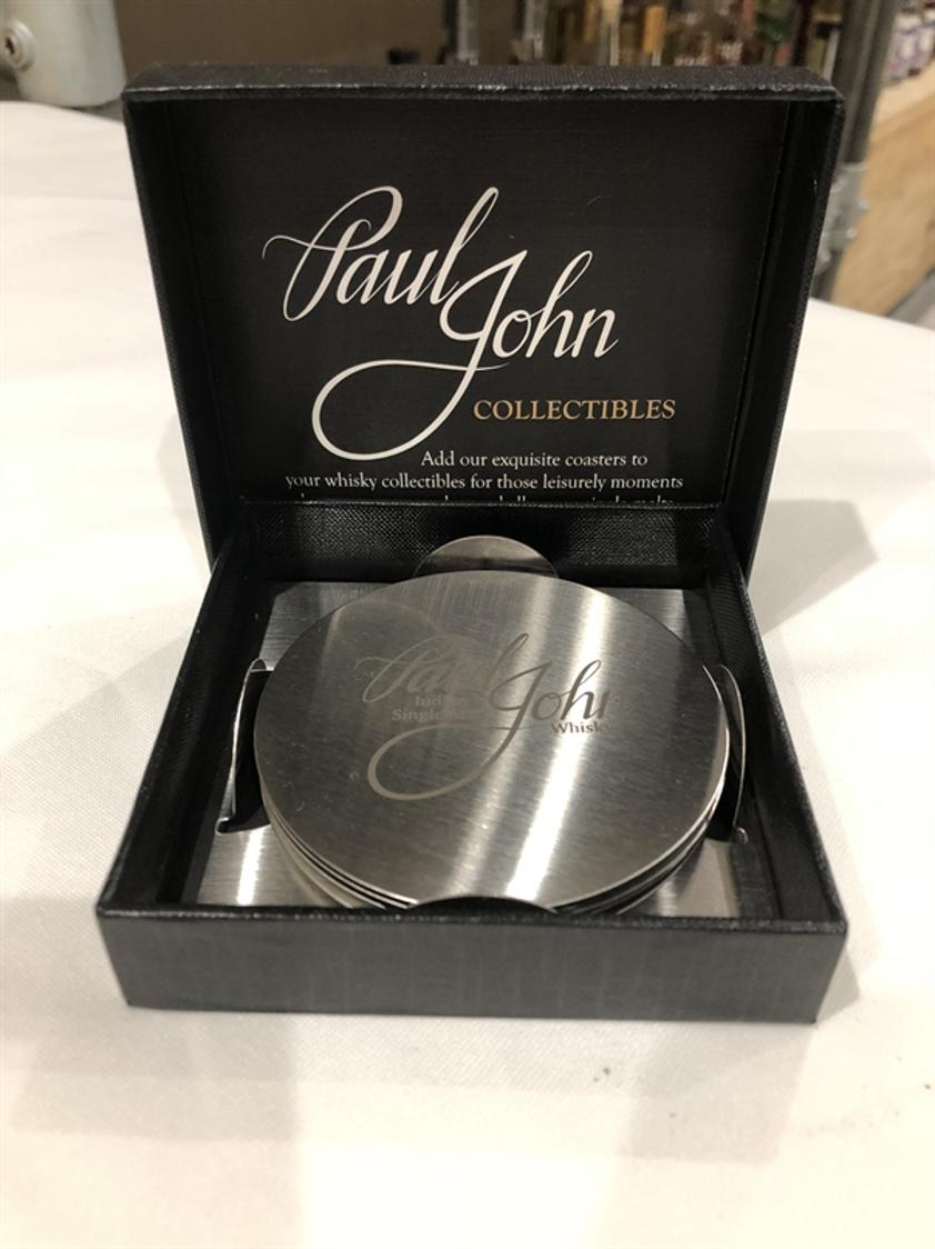 Paul John Metal Coaster Set