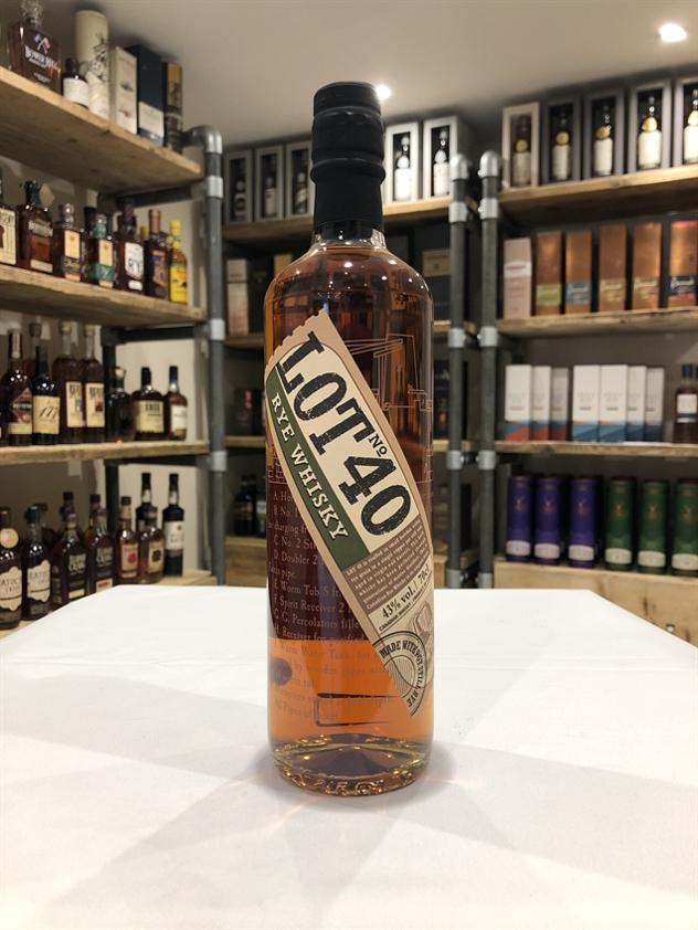 Lot 40 Rye Whisky 70cl