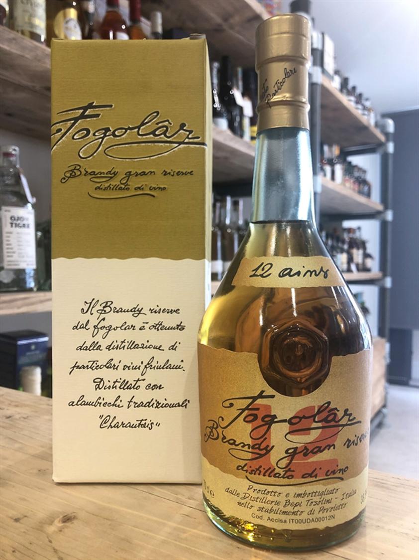 Tosolini Fogolar Brandy Gran Riserva 12yo 38.5% 70cl