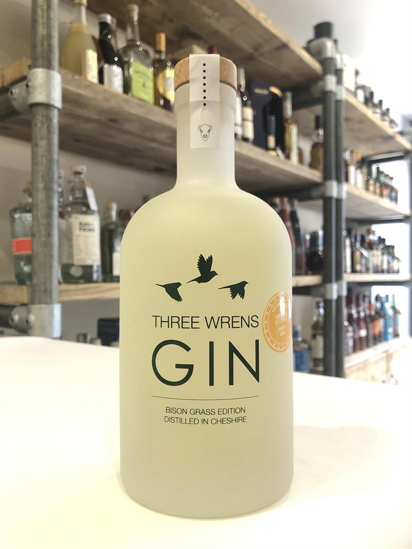 Three Wrens Bison Grass Edition Gin 41.5% 70cl