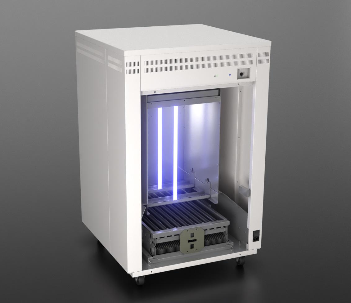 Air purification and virus radiation unit