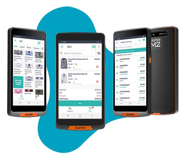 Saledock and Sunmi M2 handheld POS device