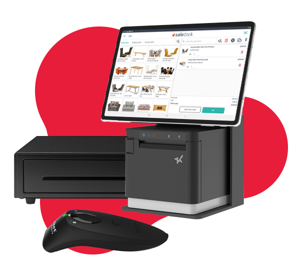 Boxapos, Star Micronics, Socket Mobile, and Android tablet with Saledock POS