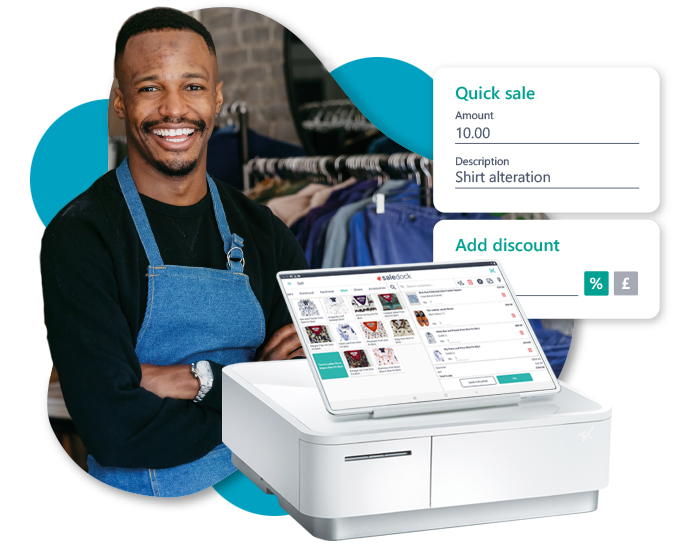 Quickly add notes and discounts to your order with Saledock point of sale