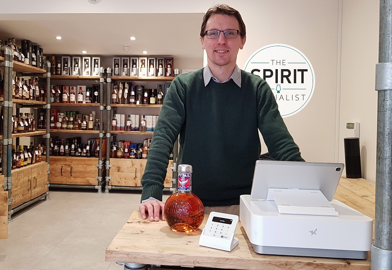 Saledock retail POS works with Ben from the Spirit Specialist, Yorkshire